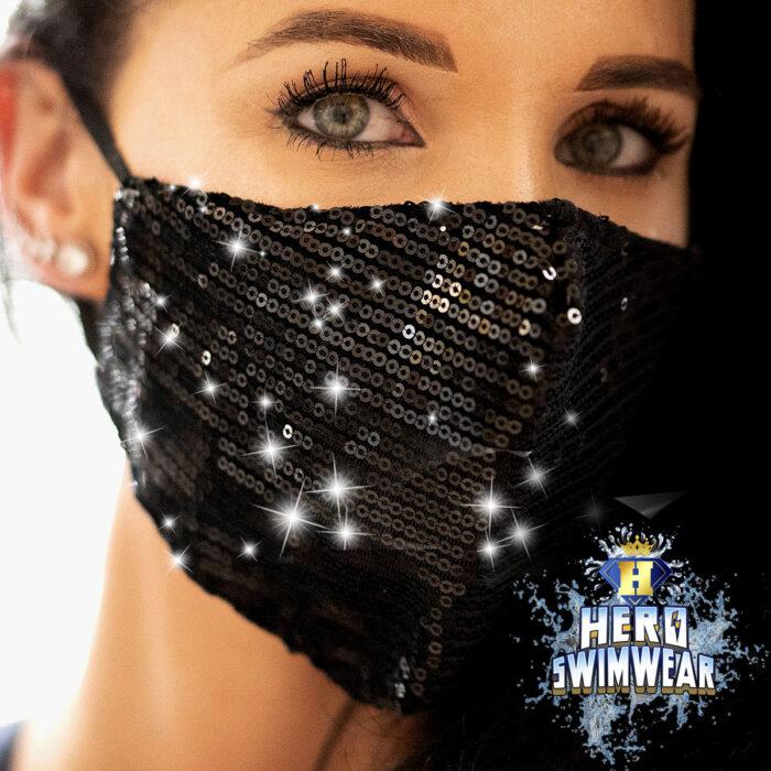 bling mask black