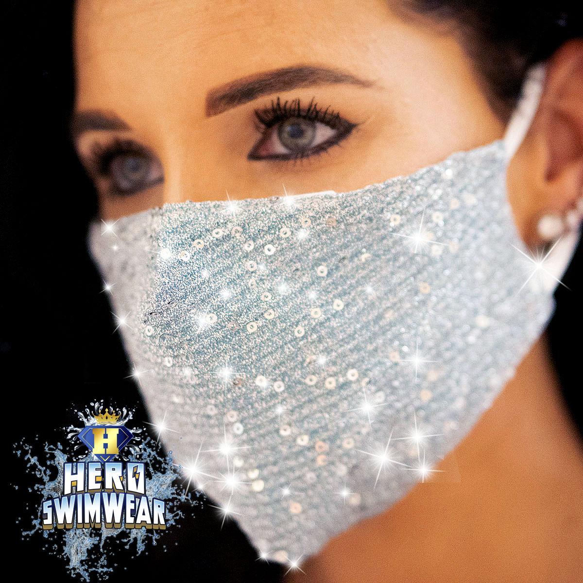 bling mask blue