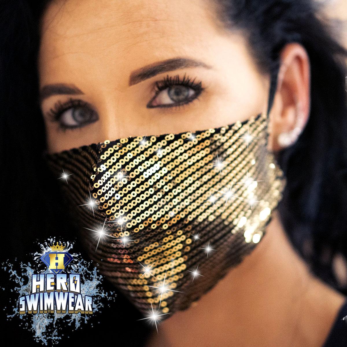 bling mask gold