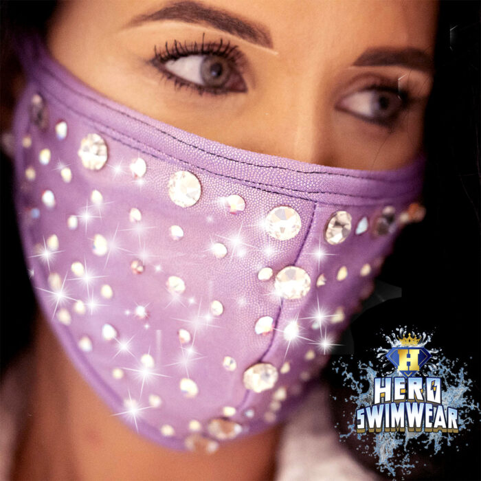 bling mask purple crystals