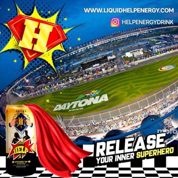 Daytona Speedway Help Energy Drink