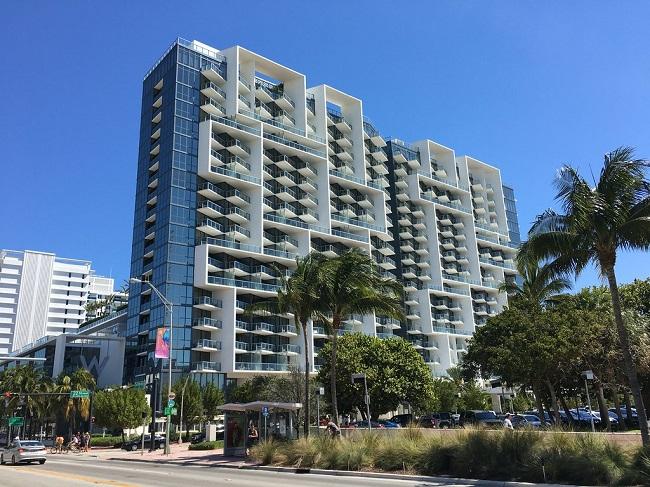 The W Hotel in Miami Beach