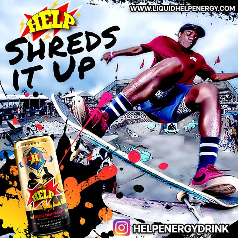 Help Energy Drink Skateboarders