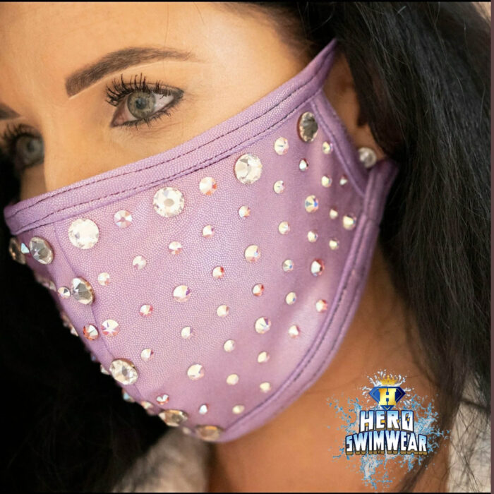 bling face masks purple