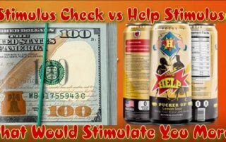 stimulus check or energy drink is better for citizens being proactive