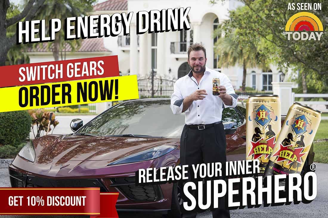 help energy drink is a new 2021 caffeinated beverage