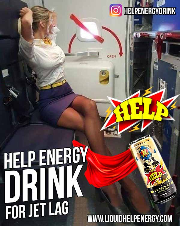 How Help Energy Drink Helps With Jet Lag