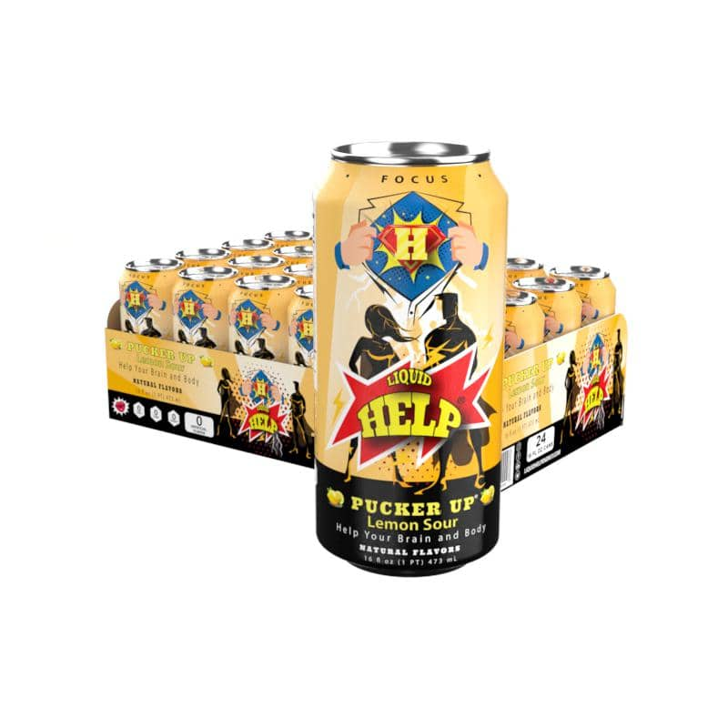 Liquid Help Energy Pucker Up 24pk cans