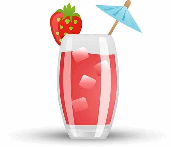 chilled strawberry guava drink